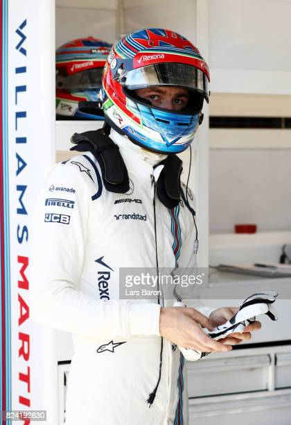 Paul di Resta of Great Britain and Williams prepares to drive during qualifying for the Formula One Grand Prix of Hungary at Hungaroring on July 29,...
