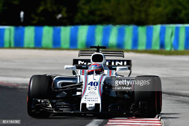 Paul di Resta of Great Britain driving the Williams Martini Racing Williams FW40 Mercedes during qualifying for the Formula One Grand Prix of Hungary...