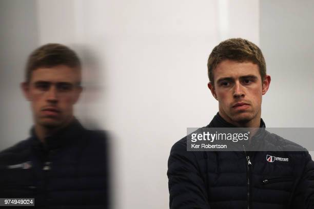 Paul Di Resta seen in his United Autosports garage during qualifying for the Le Mans 24 Hour race at the Circuit de la Sarthe on June 14, 2018 in Le...