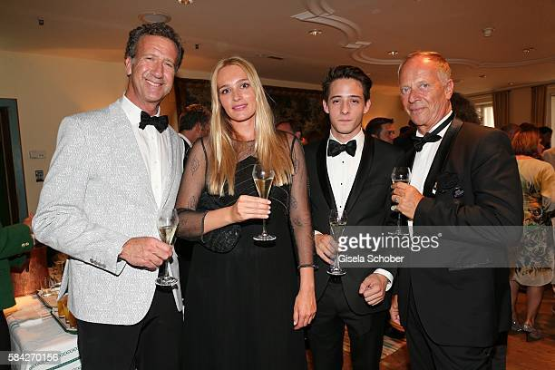 Paul Dierkes Hella Pohl Vuk Jovanovic and Andreas Wagner during a reception for the 5th gala to benefit The Israel Museum Jerusalem ahead of the...