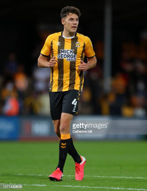 Paul Digby of Cambridge United during the EFL Trophy match between Cambridge United and Fulham U23 at Abbey Stadium on September 08, 2020 in...