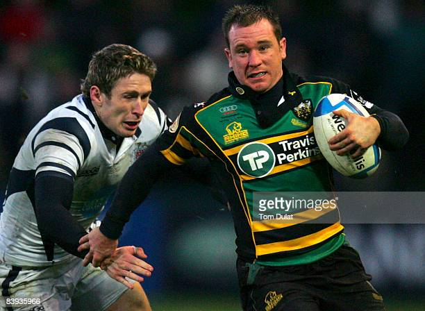 Paul Diggin of Northampton Saints in action during the European Challenge Cup match between Northampton Saints and Bristol Rugby at Franklin's...