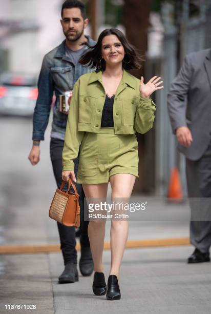Paul DiGiovanni and Katie Stevens are seen at 'Jimmy Kimmel Live' on April 16 2019 in Los Angeles California