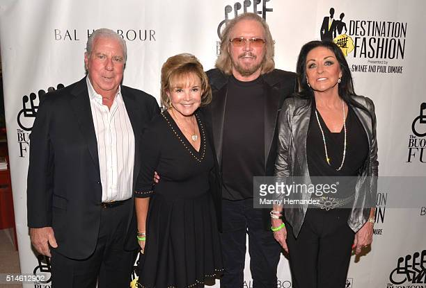 Paul DiMare and Swanee DiMare with Barry Gibb and Linda Gibb attends Destination Fashion 2016 to benefit The Buoniconti Fund to Cure Paralysis the...
