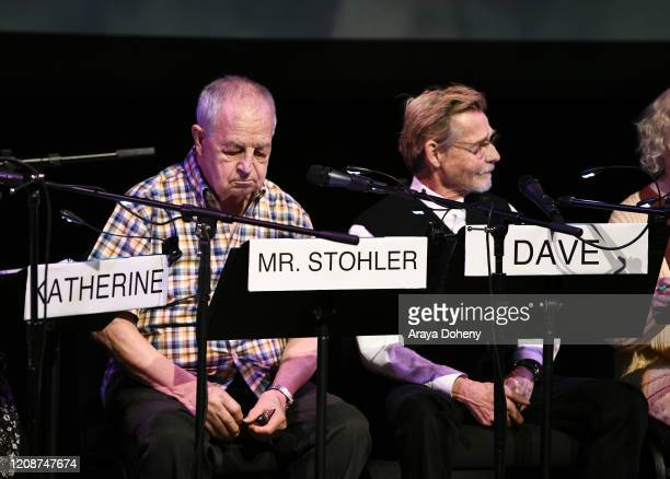 "Paul Dooley and Dennis Christopher at the Film Independent Screening Series Presents Live Read Of ""Breaking Away"" at Wallis Annenberg Center for the..."