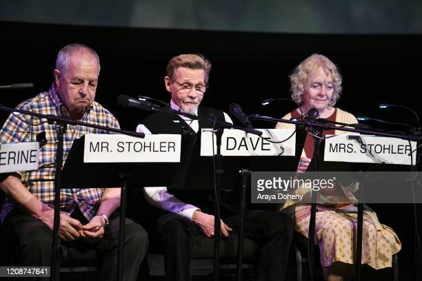 "Paul Dooley, Dennis Christopher and K Callan at the Film Independent Screening Series Presents Live Read Of ""Breaking Away"" at Wallis Annenberg..."