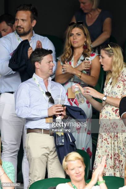 Paul Doran Jones and Zoe Hardman Declan Donnelly and Ali Astall attend day seven of the Wimbledon Tennis Championships at the All England Lawn Tennis...
