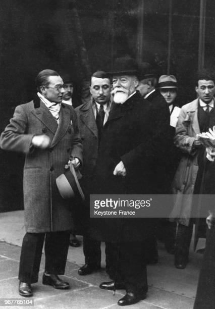 Paul Doumer président du Sénat quittant l'Elysée après avoir été consulté par Monsieur Doumergue à Paris France le 23 janvier 1931