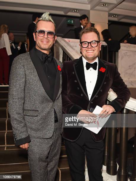 Paul Drayton and Alan Carr attend The 9th Annual Global Gift Gala held at The Rosewood Hotel on November 2, 2018 in London, England.