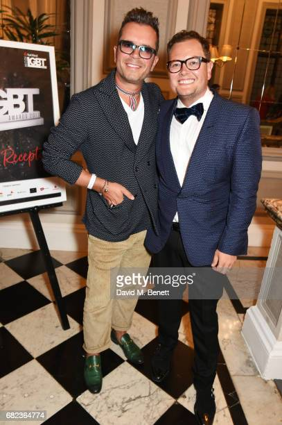 Paul Drayton and Alan Carr attend the British LGBT Awards at The Grand Connaught Rooms on May 12 2017 in London England