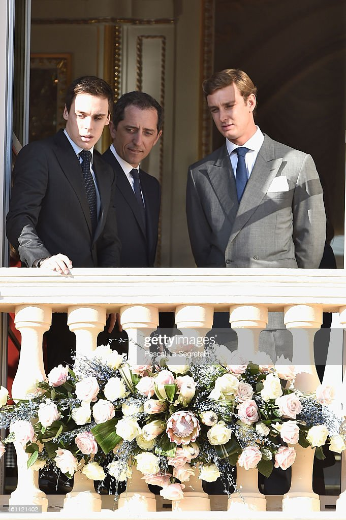 Official Presentation Of The Monaco Twins : Princess Gabriella of Monaco  And Prince Jacques of Monaco At The Palace Balcony : News Photo