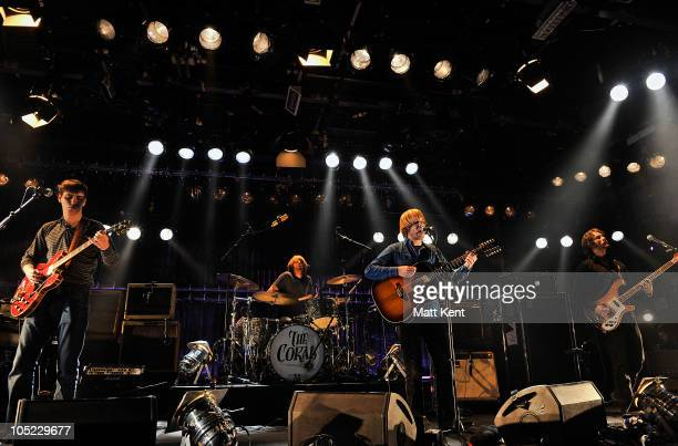 Paul Duffy Ian Skelly James Skelly and Lee Southhall of The Coral perform at Barclaycard Mercury Prize Session at The Hospital on October 12 2010 in...