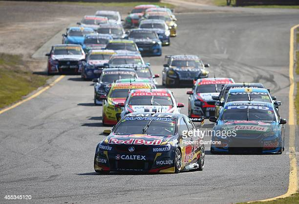 Paul Dumberell drives the Bull Racing Australia Holden during qualifying race one for the Sandown 500 which is round ten of the V8 Supercar...