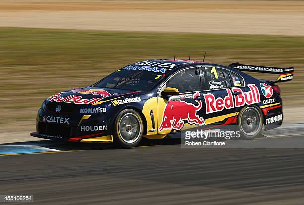 Paul Dumberell drives the Red Bull Racing Australia Holden during the Sandown 500 which is race 29 of the V8 Supercar Championship Series at Sandown...