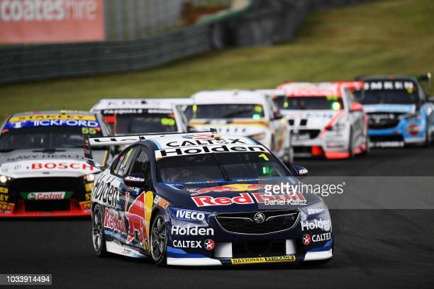 Paul Dumbrell drives the Red Bull Holden Racing Team Holden Commodore ZB during qualifying race for grid 1 for the Supercars Sandown 500 at Sandown...