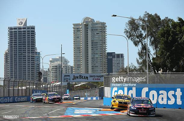 Paul Dumbrell drives the Red Bull Racing Australia Holden during race 31 of the Gold Coast 600 which is round 12 of the V8 Supercars Championship...