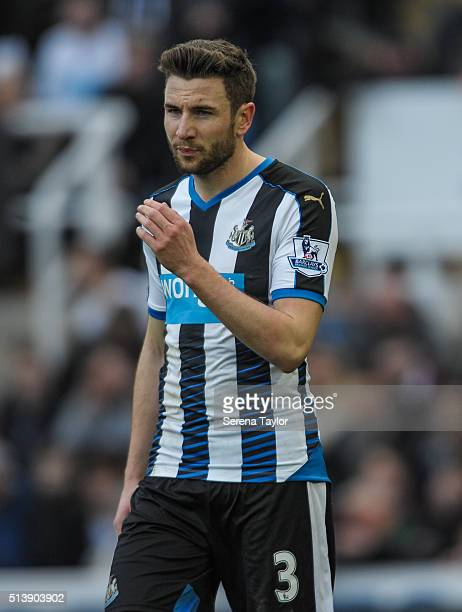 Paul Dummett of Newcastle during the Premier League Match between Newcastle United and AFC Bournemouth at StJames' Park on March 5 in Newcastle upon...