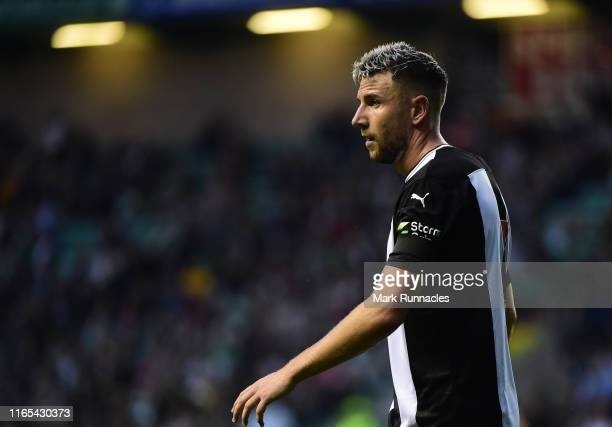 Paul Dummett of Newcastle in action during the Pre-Season Friendly match between Hibernian FC and Newcastle United FC at Easter Road on July 30, 2019...