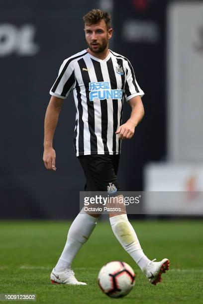 Paul Dummett of Newcastle in action during the Preseason friendly between SC Braga and Newcastle on August 1 2018 in Braga Portugal