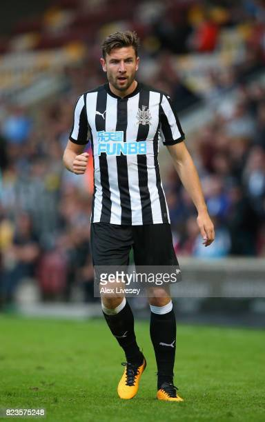 Paul Dummett of Newcastle United during a preseason friendly match between Bradford City and Newcastle United at Northern Commercials Stadium on July...