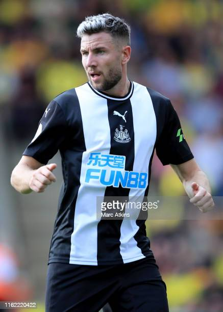 Paul Dummett of Newcastle United during the Premier League match between Norwich City and Newcastle United at Carrow Road on August 17 2019 in...