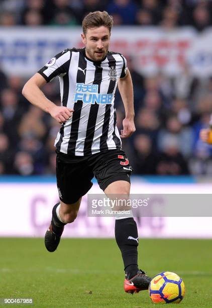 Paul Dummett of Newcastle United in action during the Premier League match between Newcastle United and Brighton and Hove Albion at St James Park on...