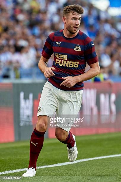 Paul Dummett of Newcastle United in action during the Preseason friendly match between FC Porto and Newcastle at Estadio do Dragao on July 28 2018 in...