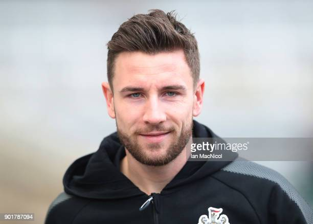 Paul Dummett of Newcastle United is seen prior to the Emirates FA Cup third round match between Newcastle United and Luton Town at St James' Park on...