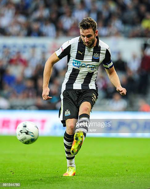 Paul Dummett of Newcastle United passes the ball during the Sky Bet Championship match between Newcastle United and Reading at StJames' Park on...