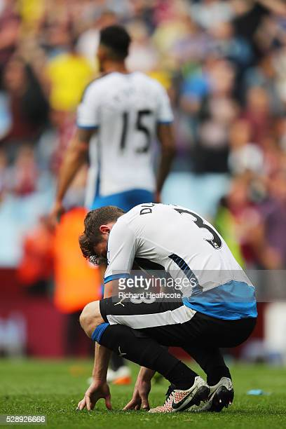 Paul Dummett of Newcastle United reacts after his team's scoreless draw in the Barclays Premier League match between Aston Villa and Newcastle United...
