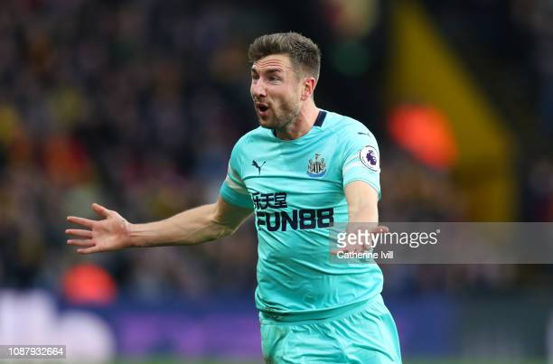 Paul Dummett of Newcastle United reacts during the Premier League match between Watford FC and Newcastle United at Vicarage Road on December 29 2018...