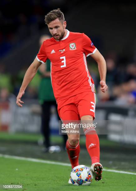 Paul Dummett of Wales during the UEFA Nations League B group four match between Wales and Republic of Ireland at Cardiff City Stadium on September 6...