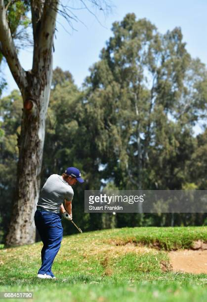 Paul Dunne of Ireland plays from the rough during day 2 of the Trophee Hassan II at Royal Golf Dar Es Salam on April 14 2017 in Rabat Morocco