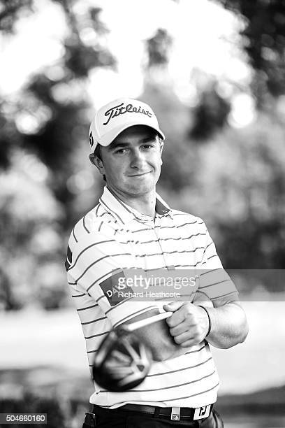 Paul Dunne of Ireland poses for a portrait during a practise day for the Joburg Open at Royal Johannesburg and Kensington Golf Club on January 12...