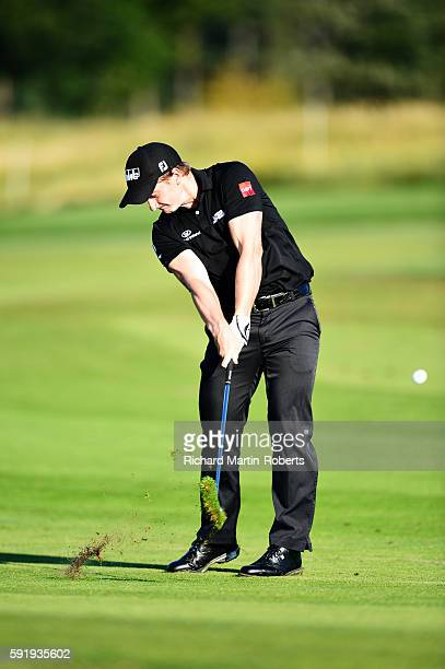 Paul Dunne of Ireland takes his second shot on the 12th hole during day two of the DD REAL Czech Masters at Albatross Golf Resort on August 19 2016...