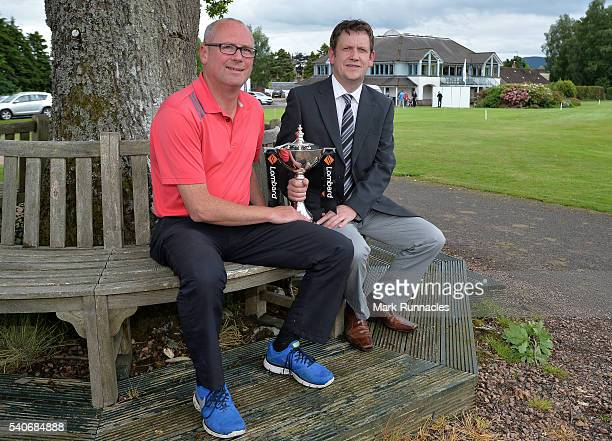 Paul Edgcombe and Jamie Taylor of Forrester Park Golf Resort winners of the PGA National ProAm Qualifiers Scotland pose for a photograph at Crieff...