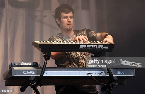 Paul �El Hornet� Harding of the band Pendulum performs on stage during the Big Day Out 2009 in the Gold Coast Parklands on January 18 2009 on the...