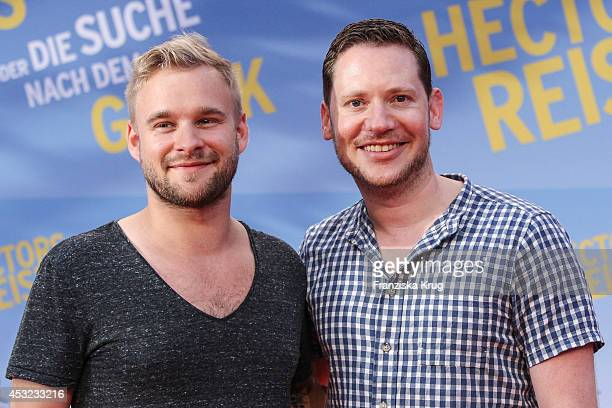 Paul Emmerich and Marco Kreuzpaintner attend the premiere of the film 'Hector and the Search for Happiness' at Zoo Palast on August 05 2014 in Berlin...