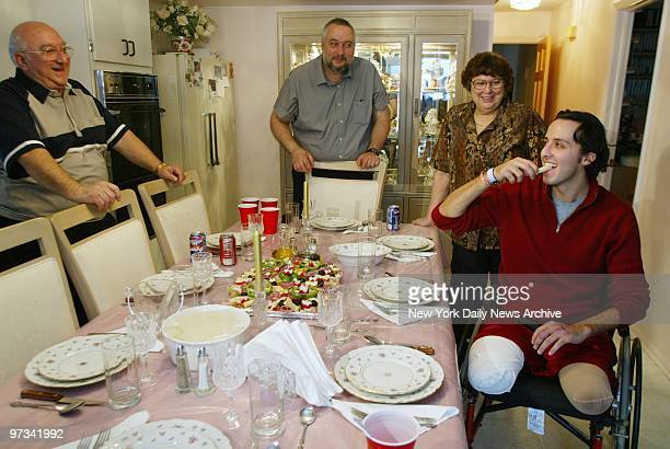 Paul Esposito tries the antipasto during Thanksgiving dinner at his grandparents' house in Staten Island Esposito made his first trip outside the...