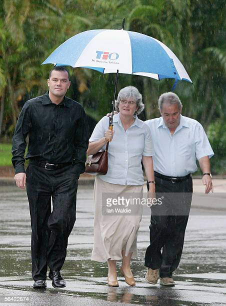 Paul Falconio brother of Peter Falconio arrives with his parents Joan and Luciano at the Northern Territory Supreme Court for day 38 of the Falconio...