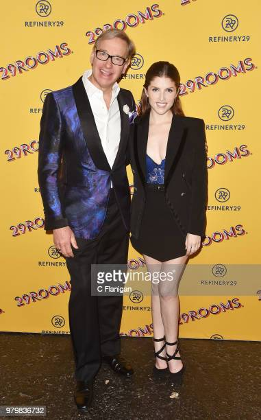 Paul Feig and Anna Kendrick attend Refinery29's 29Rooms San Francisco Turn It Into Art Opening Party at the Palace of Fine Arts on June 20 2018 in...