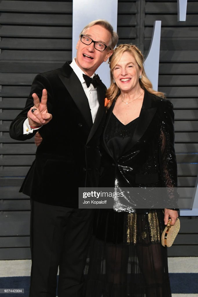 Paul Feig (L) and Laurie Feig attend the 2018 Vanity Fair Oscar Party hosted by Radhika Jones at Wallis Annenberg Center for the Performing Arts on March 4, 2018 in Beverly Hills, California.