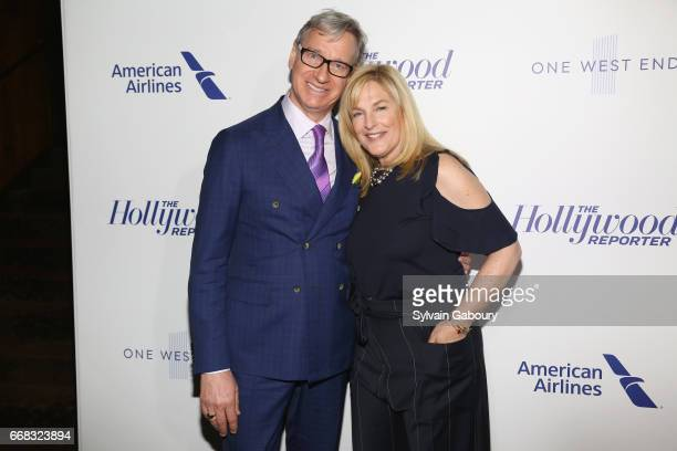 Paul Feig and Laurie Feig attends The Hollywood Reporter's 35 Most Powerful People In Media 2017 on April 13 2017 in New York City