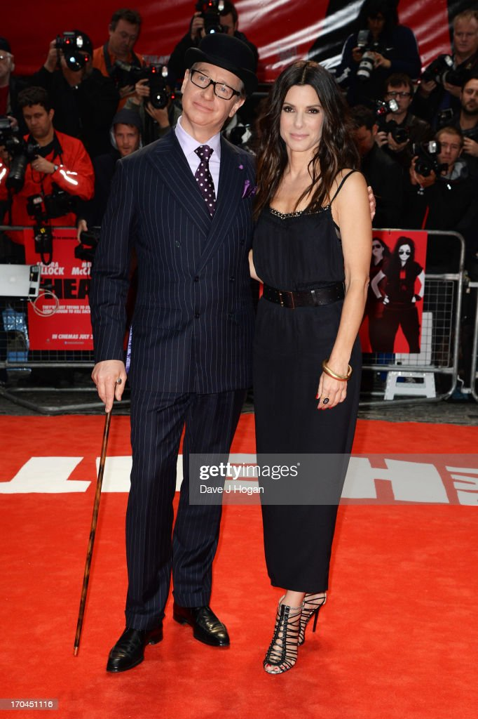 Paul Feig and Sandra Bullock attend a gala screening of 'The Heat' at The Curzon Mayfair on June 13, 2013 in London, England.