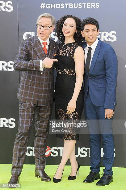 Aaron Sorkin Bess Rous and Karan Soni attend The Los Angeles Premiere of Ghostbusters at TCL Chinese Theatre on July 9 2016 in Hollywood California