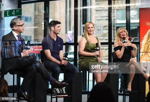 Paul Feig Jonathan Levine Amy Schumer and Goldie Hawn attend the Build Series to discuss the film 'Snatched' at Build Studio on May 2 2017 in New...