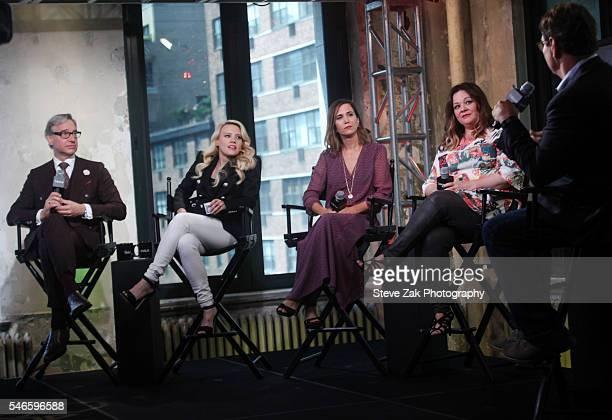 "Paul Feig, Kate McKinnon, Kristen Wiig, Melissa McCarthy and Steve Higgins attend AOL Build Speaker Series:""Ghostbusters"" at AOL HQ on July 12, 2016..."