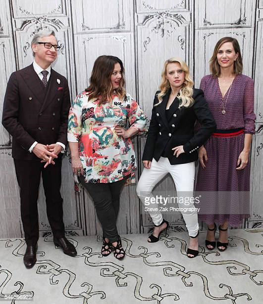 """Paul Feig, Melissa McCarthy, Kate McKinnon and Kristen Wiig attend AOL Build Speaker Series: """"Ghostbusters"""" at AOL HQ on July 12, 2016 in New York..."""