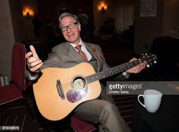 Paul Feig poses in the green room during Vulture Festival LA presented by ATT at Hollywood Roosevelt Hotel on November 19 2017 in Hollywood California