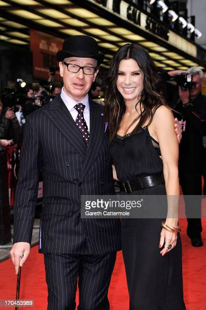 Paul Feig Sandra Bullock attends the gala screening of 'The Heat' at The Curzon Mayfair on June 13 2013 in London England